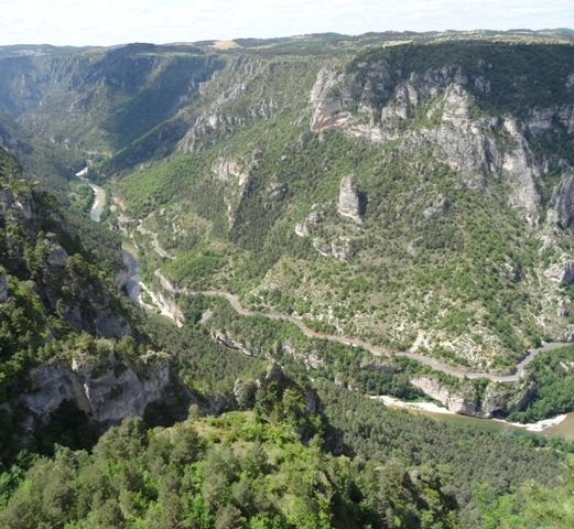 Gorges du Tarn at Roc Hourtous