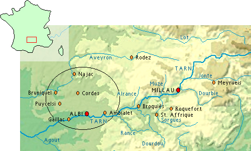 map grands causses